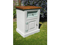 Coroona Pine shabby chic bedside cabinet