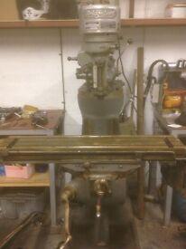 Bridgeport milling machine 3 phase industrial lathe metal work machining