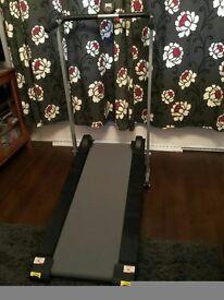 Non-motorised folding treadmill