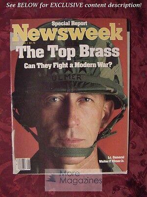NEWSWEEK July 9 1984 7/84 American Military Leaders Modern War Israel Bald - Leaders Bald Eagle