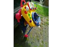 Fisher Price Hop n Pop jumperoo-style baby bouncer