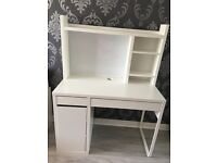 Stunning white desk with add-on unit