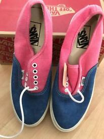 Pink and blue vans