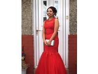 Red fishtail stardust dress! Only wore for 3 hours ! Immaculate condition! Was £495