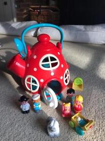 Teapot house and figurines ELC happyland