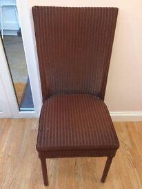 Lloyd loom dining chairs x 2