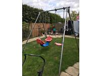 TP double swing set with extra baby seat