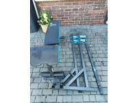 Mens health Dumbbell Bench & Squat Rack (press, stands, cast, iron, weights)
