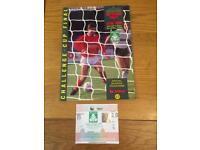 Nottingham Forest v Luton Town - 1989 Littlewoods Challenge Cup Final Program and ticket.