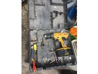 Second hand cordless Dewalt 12v drill drill bitts and other drills and power tools listed