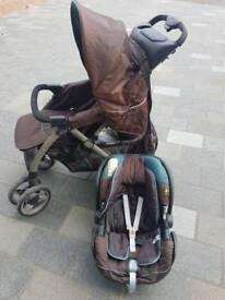 Pram, car seat & bag