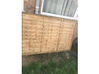 Fence panel 6ft wide 4ft high