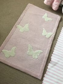 Great little trading company (like white company) butterfly wool rug