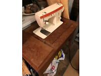 Antique Singer Sewing Machine on stand