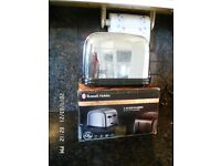 CHROME RUSSELL HOBBS 4 SLICE TOASTER FULL WORKING ORDER