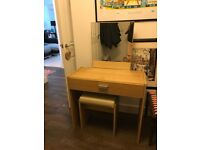 Dressing / Make Up table with mirror and stool