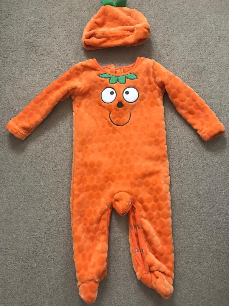 Baby Halloween pumpkin outfit 9-12