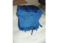 blue rucksack