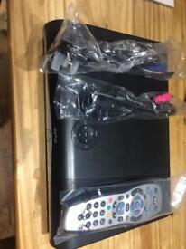 Sky HD box, remote and leads