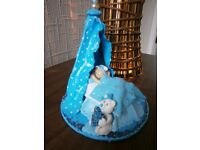 Beautiful Hand Crafted Baby Christening Topper Keepsake Non edible Polymer Clay