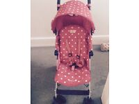 Cath Kidston Maclaren Quest Red Spot Limited Edition pushchair