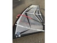 Training Windsurf Sail 2.7 m complete with mast, base, boom and uphaul