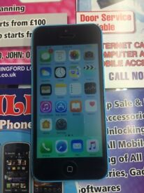 Apple iphone 5c blue unlocked to any network 16gb good condition