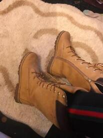Size 5 knee high timberland boots