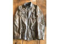 Hugo Boss Orange brown natural leather jacket size 42R