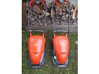 Flymo Hover Compact 330 Lawnmower - in full operation , blade sharpened for sale