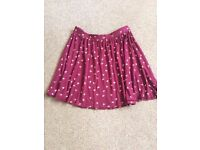 LADIES ASOS SIZE 10 BIRD PRINT SKATER SKIRT- £5