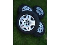 Set of 4 wheels, wheel trims and tyres (£54.9 each)