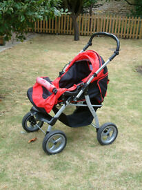 Julia City All in One Pram and Pushchair - Go Everywhere Full Suspension Stroller