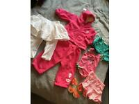 Baby girl age 6-9 months bundle of clothes