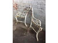 traditional cast iron bench ends / many sets available from £15