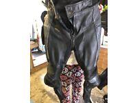 Ladies motorbike leathers size 10