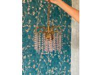 Pink Crystal chandelier