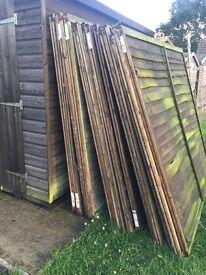 Used 6ft fence panels x15