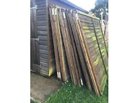 Used 6ft fence panels x15