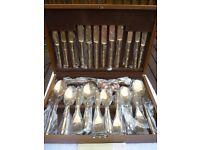 Solid Bronze 46 piece Canteen Cutlery
