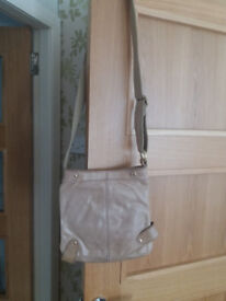Next leather beige cross over bag