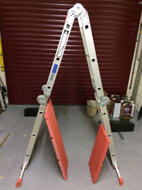 Ladder, 12-way combinatiopn step ladder & platform