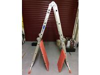 Ladder, 12-way combinatiopn step ladder & platform