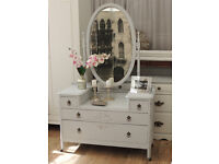 Beautiful Edwardian shabby chic dressing table with mirror by Eclectivo