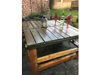 Garden table n bench combination