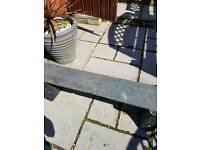 4ft Solid slate garden bench