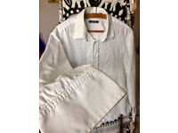 White embroidered Stark casual shirt