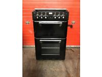 Stoves Richmond mini range dual fuel gas cooker 550DF black double oven 3 months warranty free local