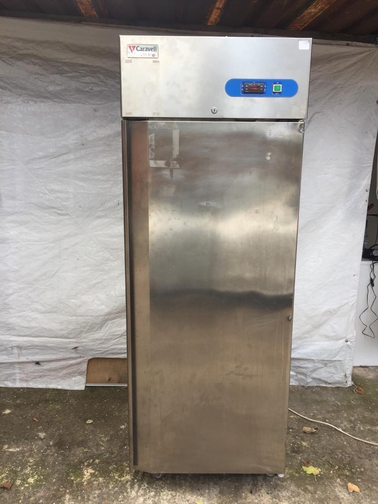 Very good condition single door commercial chiller steel and steel full working order £280