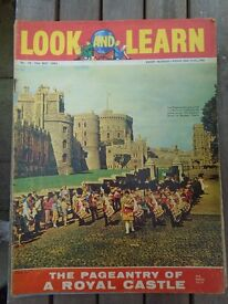 Look and Learn education magazine - Windsor Castle (Royal Palace) issue - 19th May 1962 - quick sale
